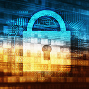 Image of computer graphic with padlock